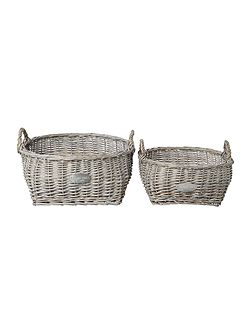 Willow baskets set of 2