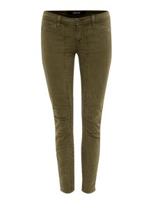 Ginger skinny pleated knee detail jean in jungle