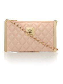 Superquilt light pink clutch crossbody bag