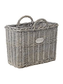 Shabby Chic Willow magazine basket