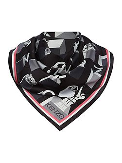 Mini Logo Silk Square Scarf