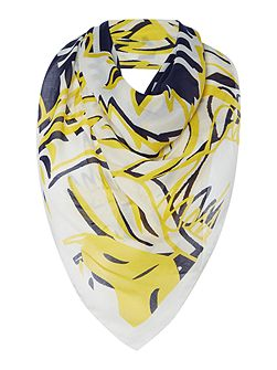 Four tigers modal square scarf