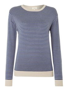 Linea Weekend Colourblock Feeder Stripe Panel Jumper