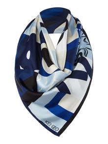 Kenzo Cube Silk Square Scarf