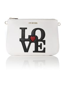 White love pouch clutch bag