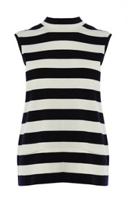 Clean stripe knits top