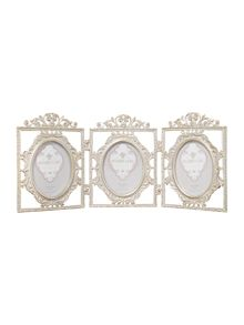 Shabby Chic Antique metal hinged frame trio 5x7