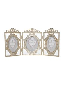 Antique metal hinged frame trio 5x7