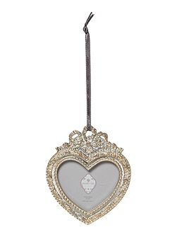 Hanging heart silver 2x2