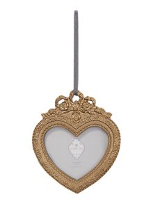 Shabby Chic Hanging heart gold 2x2