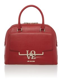 Love Moschino Red large dome bag