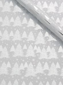 Linea Silver christmas tree wrapping paper