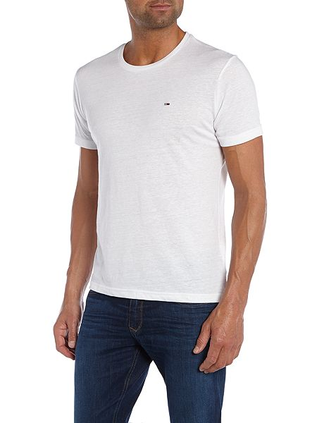tommy hilfiger hanson plain crew neck slim fit t shirt white house. Black Bedroom Furniture Sets. Home Design Ideas