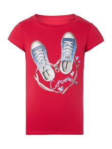 Girls Shoe Heart Graphic Tshirt