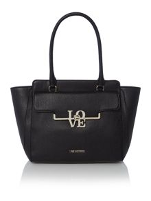 Frame saffiano black tote bag