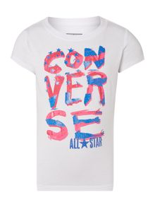 Girls Converse Stars Graphic Tshirt