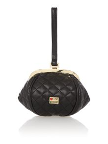Black clasp shoulder bag