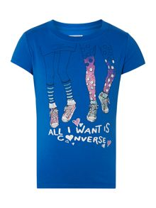 Girls All I Want Graphic Tshirt