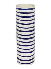 Blue stripe column vase