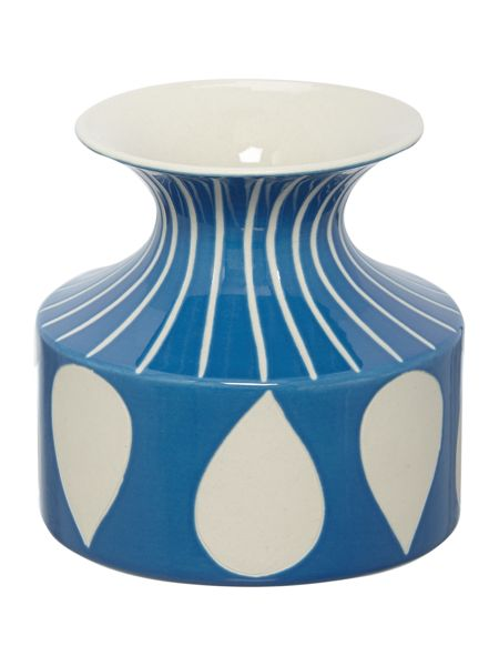 Dickins & Jones Blue printed vase