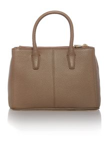 Tribeca neutral double zip tote bag
