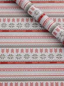 Knitted fairisle wrapping paper