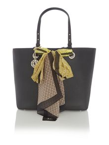 Black large removeable scarf tote bag