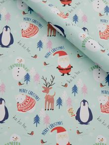 Frosty Character Wrapping Paper
