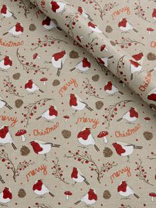Textured grey robin wrapping paper