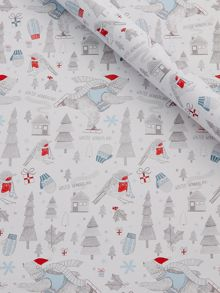 Bob the bear illustrated wrapping paper