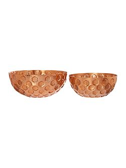 Living by Christiane Lemieux Copper bowls set of