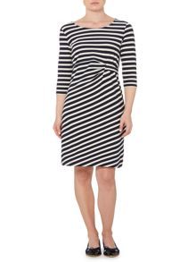 Jersey dress with tack side detail