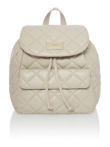 Quilted taupe backpack