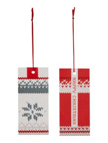 Linea Set of 8 knitted fairisle gift tags