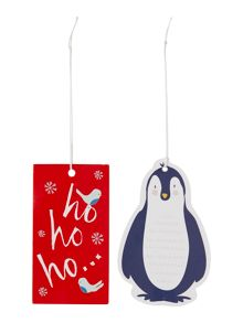 Linea Set of 8 frosty character gift tags