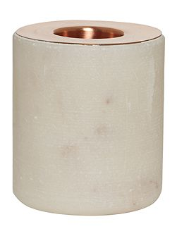 Casa Couture Marble & Copper round candle holder,