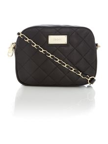 Quilted black small cross body bag
