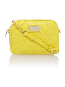 Quilted yellow small cross body bag
