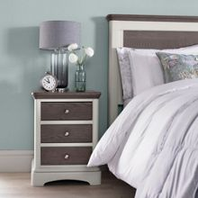 Oxford 3 drawer bedside chest