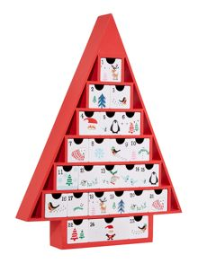 Frosty character christmas tree advent calendar