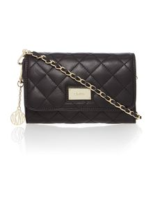 Black small flap over cross body bag