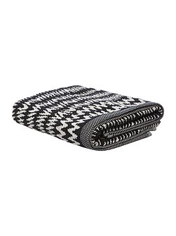Chevron Hand Towel in Black