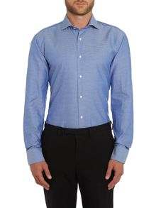 Ted Baker Prox Textured Geometric Jacquard Formal Shirt