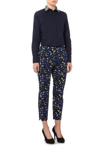 Floral Print Tailored Trouser