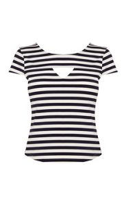 Graphic stripe t shirt