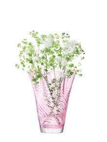 Chiffon Vase H25cm in Blush Optic