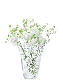 Chiffon Vase H25cm in Clear Optic