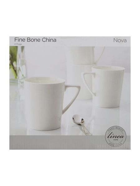 Linea Nova fine bone china mugs set of 4