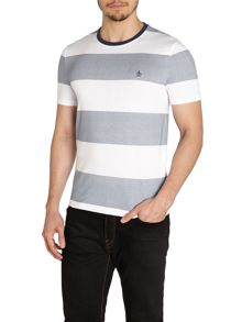 Birdseye Block Stripe Crew Neck Regular Fit T-Shi