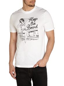 Hop On Board Print Crew Neck Regular Fit T-Shirt
